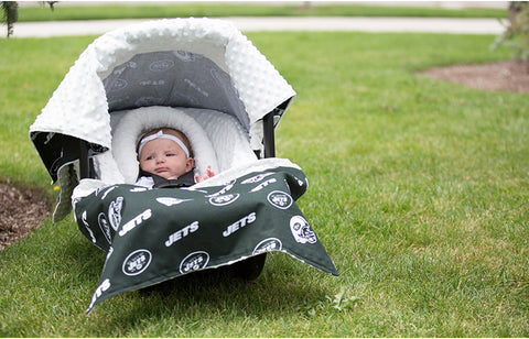 "New York Jets NFL ""The Whole Caboodle"" 5-Piece Carseat Cover Set"