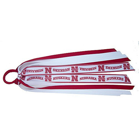 NCAA Nebraska Cornhuskers Girls ES1-Nenebraska Fan Tails, Red, One Size