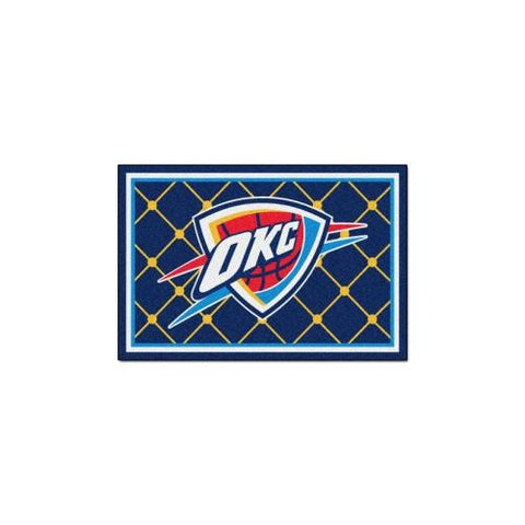 "Oklahoma City Thunder NBA 5x8 Rug (60""x92"")"