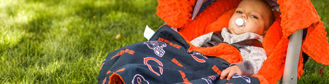 "Chicago Bears NFL ""The Whole Caboodle"" 5-Piece Carseat Cover Set"