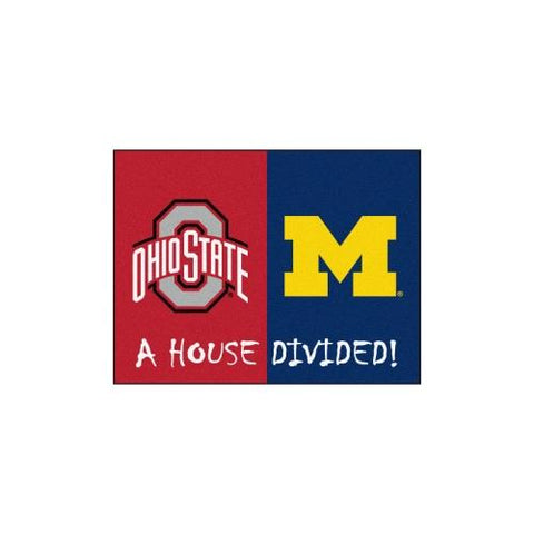 "Ohio State Buckeyes / Michigan Wolverines House Divided NCAA ""All-Star"" Floor Mat (34""x45"")"