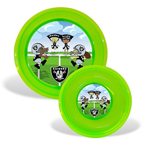 Baby Fanatic Plate and Bowl Set, Oakland Raiders
