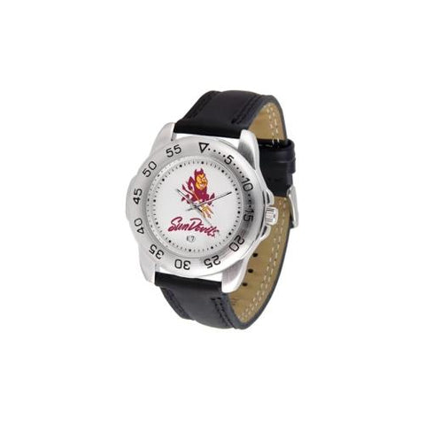 "Arizona State Sun Devils NCAA ""Sport"" Mens Watch (Leather Band)"