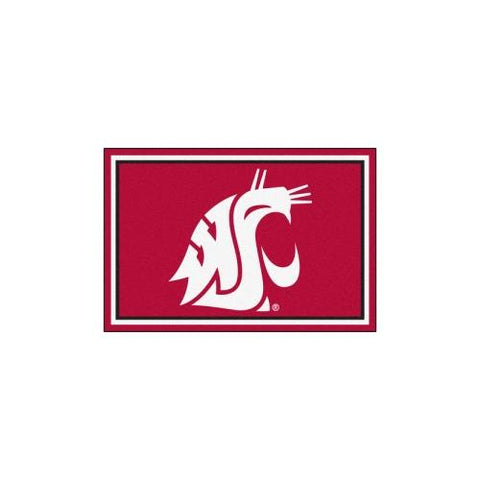 Washington State Cougars NCAA Floor Rug (5x8')