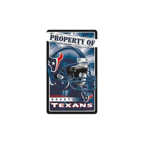 "Houston Texans NFL ""Property Of"" Plastic Sign (7.25in x 12in)"