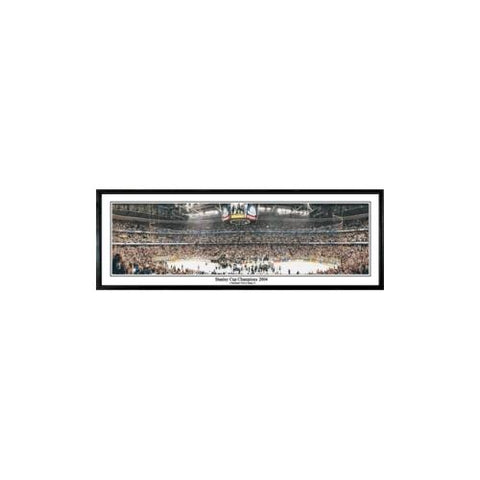 "Tampa Bay Lightning ""Stanley Cup Champions 2004"" - 13.5""x39"" Standard Black Frame"