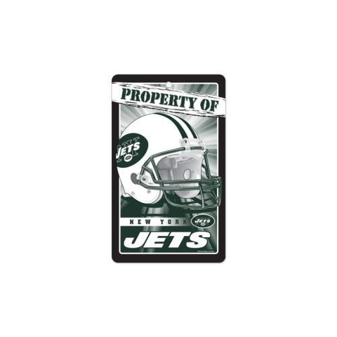 "New York Jets NFL ""Property Of"" Plastic Sign (7.25in x 12in)"