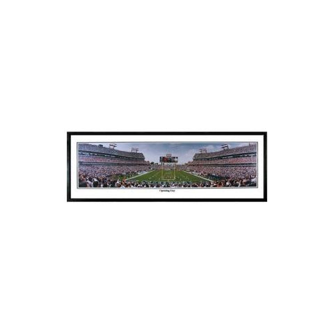 "Tennessee Titans ""Opening Day""  - 13.5""x39"" Standard Black Frame"