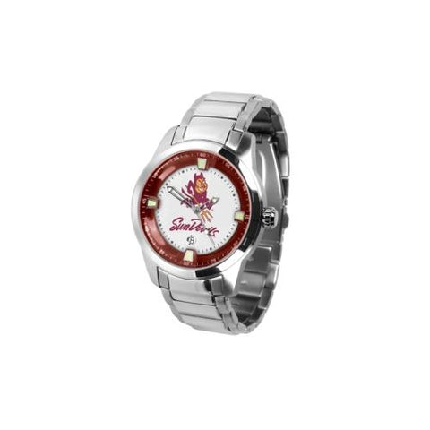 "Arizona State Sun Devils NCAA ""Titan Steel"" Men's Watch (Metal Band)"
