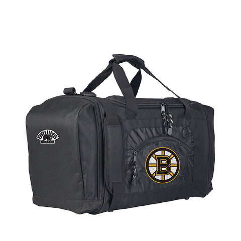 Boston Bruins NHL Roadblock Duffel Bag (Black/Black) (2-Pack)