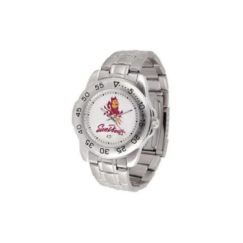 "Arizona State Sun Devils NCAA ""Sport"" Mens Watch (Metal Band)"
