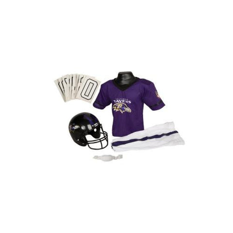 Baltimore Ravens Youth NFL Deluxe Helmet and Uniform Set (Medium)