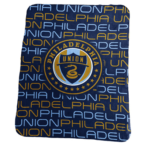 Philadelphia Union MLS Classic Fleece Throw