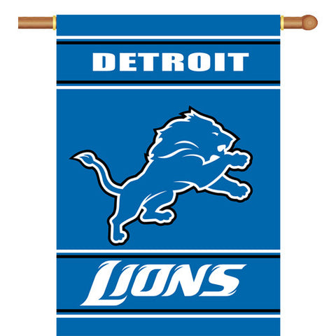 Detroit Lions NFL 2 Sided Banner 28 x 40