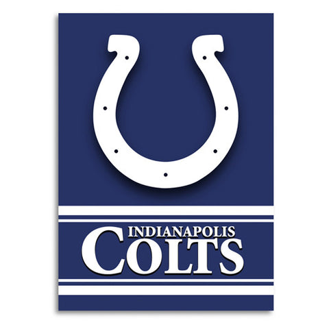 Indianapolis Colts NFL 2 Sided Banner 28 x 40