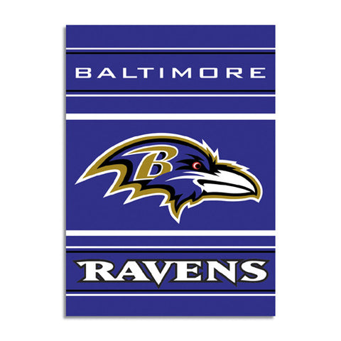 Baltimore Ravens NFL 2 Sided Banner 28 x 40