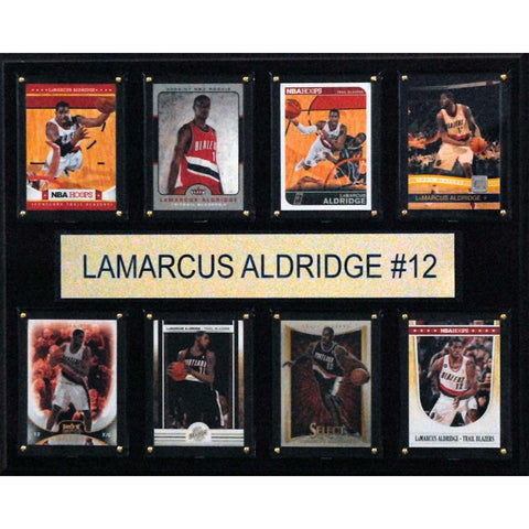 NBA 12x15 LeMarcus Aldridge Portland Trail Blazers 8 Card Plaque