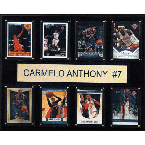NBA 12x15 Carmelo Anthony New York Knicks 8 Card Plaque