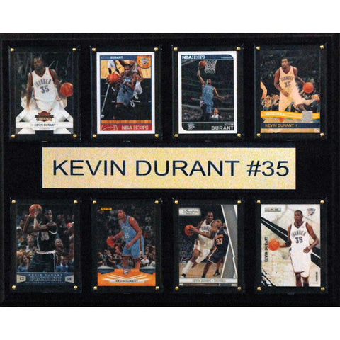 NBA 12x15 Kevin Durant Oklahoma City Thunder 8 Card Plaque