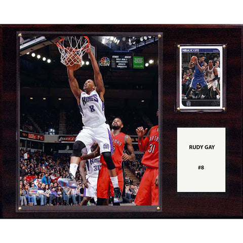 NBA 12in x15in Rudy Gay Sacramento Kings Player Plaque