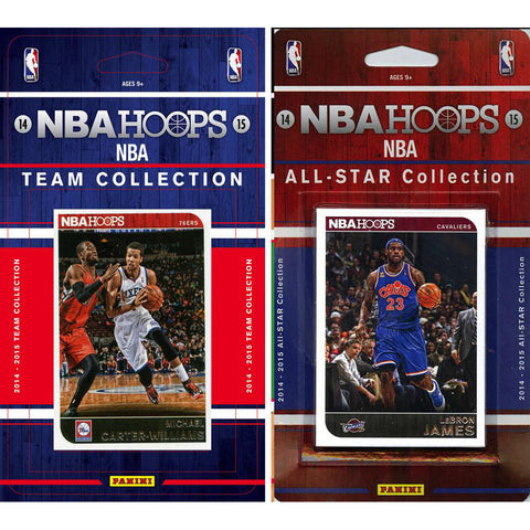 NBA Philadelphia 76ers Licensed 2014 15 Hoops Team Set Plus All Star