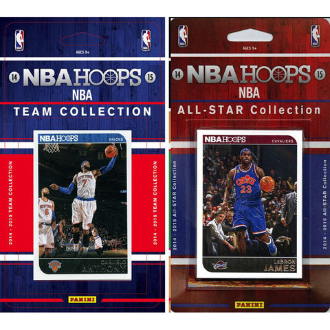 NBA New York Knicks Licensed 2014 15 Hoops Team Set Plus All Star