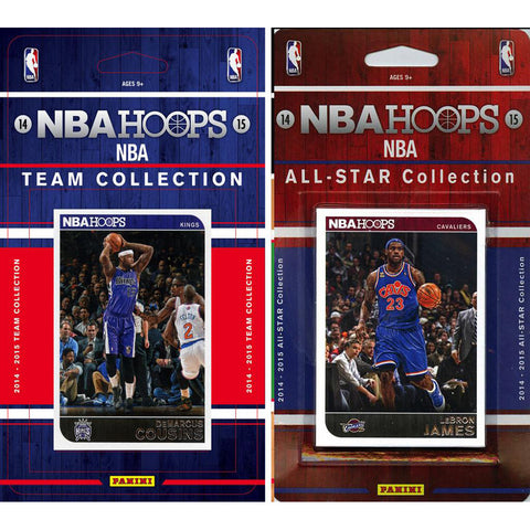 NBA Sacramento Kings Licensed 2014 15 Hoops Team Set Plus All Star