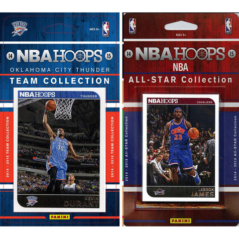 NBA Oklahoma City Thunder Licensed 2014 15 Hoops Team Set Plus All Star