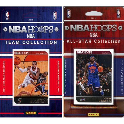 NBA Portland Trail Blazers Licensed 2014 15 Hoops Team Set Plus All Star