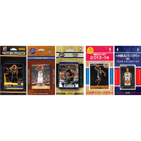 NBA Utah Jazz 5 Different Licensed Trading Card Team Sets