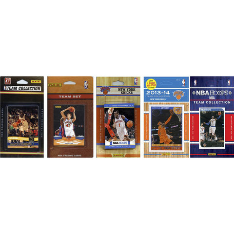 NBA New York Knicks 4 Different Licensed Trading Card Team Sets