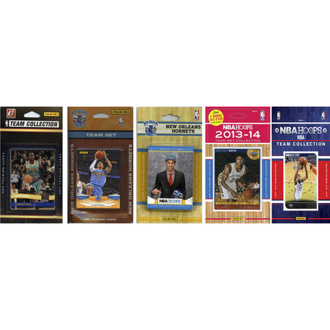 NBA New Orleans Pelicans 5 Different Licensed Trading Card Team Sets