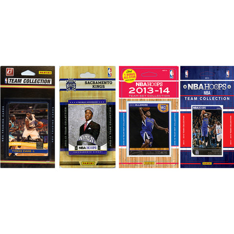 NBA Sacramento Kings 4 Different Licensed Trading Card Team Sets