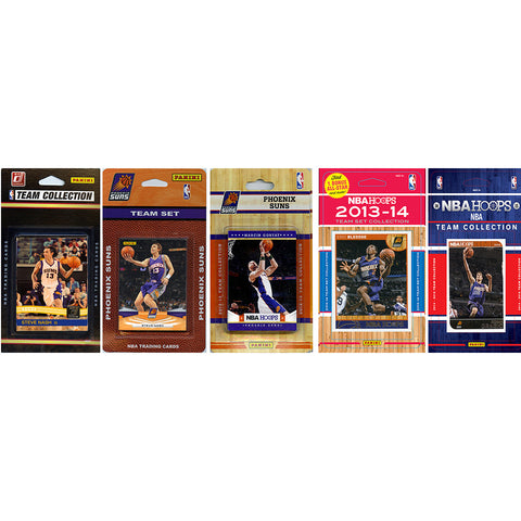 NBA Phoenix Suns 5 Different Licensed Trading Card Team Sets