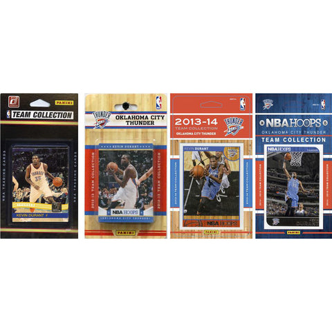 NBA Oklahoma City Thunder 4 Different Licensed Trading Card Team Sets