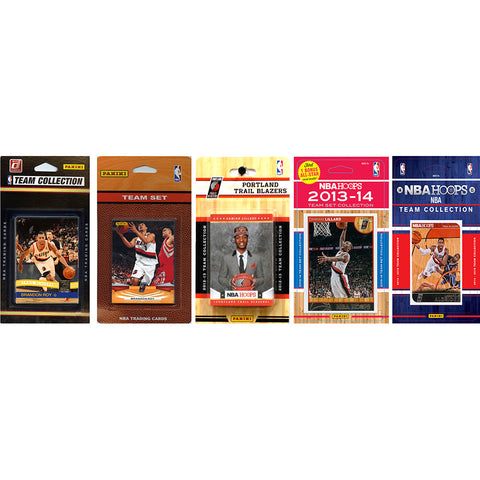NBA Portland Trail Blazers 5 Different Licensed Trading Card Team Sets