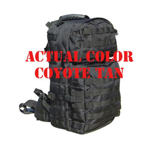Assault Back Pack Color: Tan