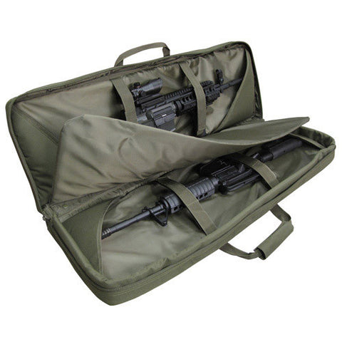 Condor 36in Double rifle case 3 detachable pouches Color: OD Green