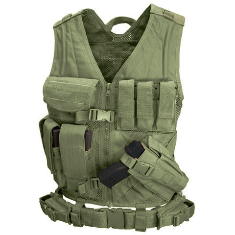 Cross Draw Tactical Vest Color: OD Green /