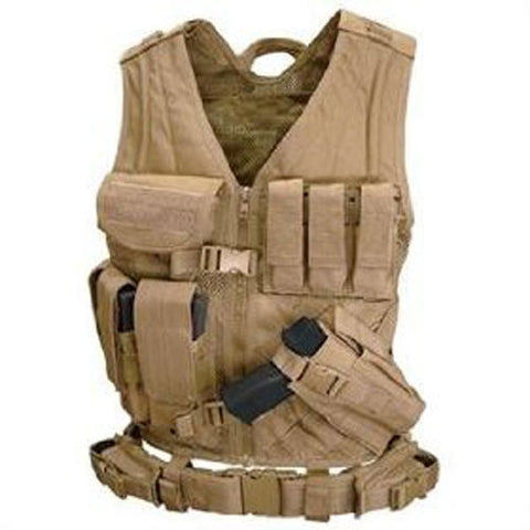Cross Draw Tactical Vest Color: Tan /