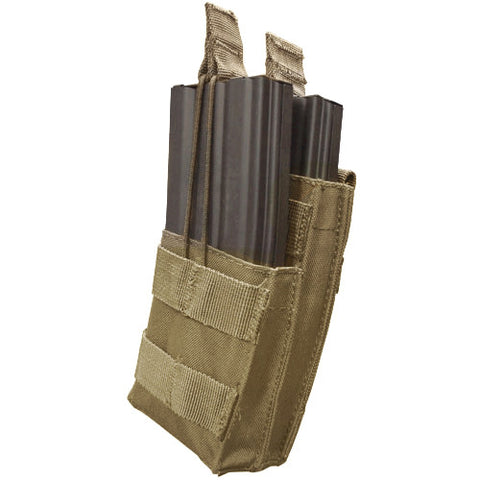 Single Stacker M4 Magazine Pouch Hold 2 Mags Color: Coyote Tan
