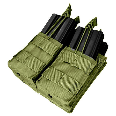Double Stacker M4 Magazine Pouch Hold 4 Mags Color: OD Green