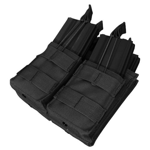 Double Stacker M4 Magazine Pouch Hold 4 Mags Color: Black