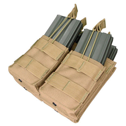 Double Stacker M4 Magazine Pouch Hold 4 Mags Color: Coyote Tan