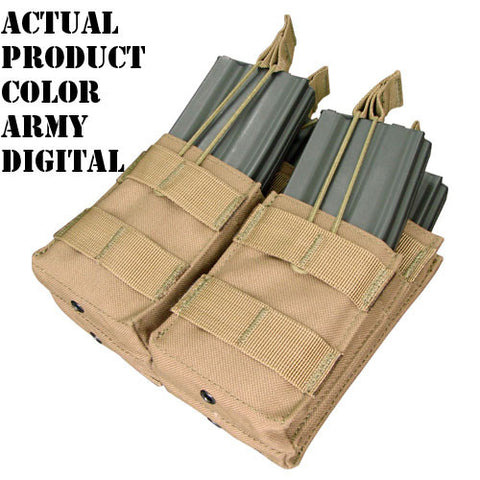 Double Stacker M4 Magazine Pouch Hold 4 Mags Color: Army Digital