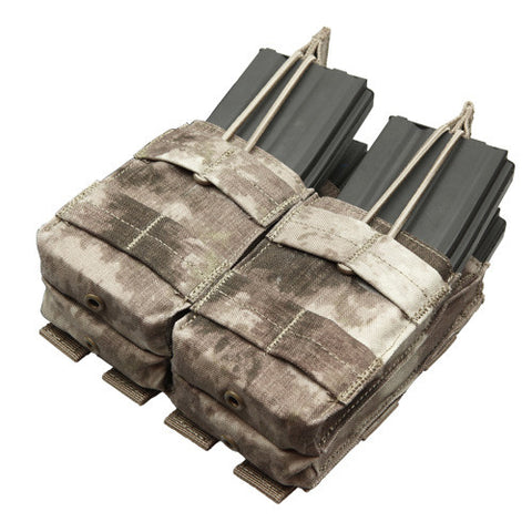 Double Stacker M4 Magazine Pouch Hold 4 Mags Color: A TACS