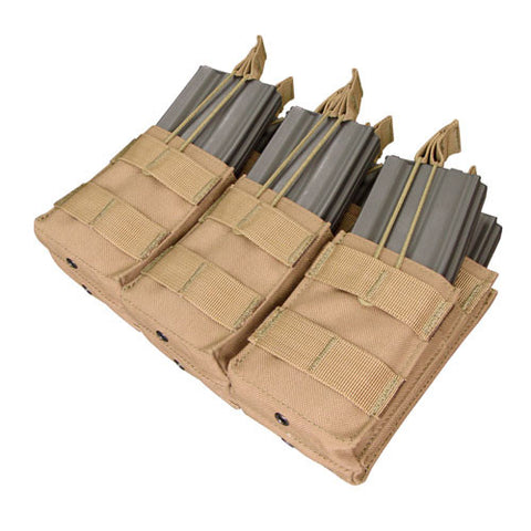 Triple Stacker M4 Magazine Pouch Hold 6 Mags Color: Coyote Tan