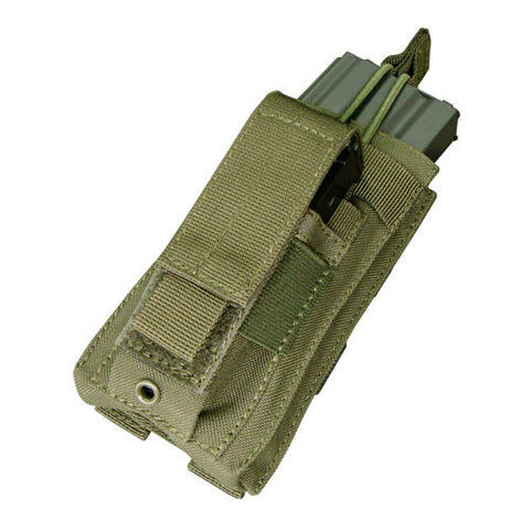 Kangaroo Magazine Pouch holds 1 M4/M16 Mag, Pistol Mag Color: OD Green