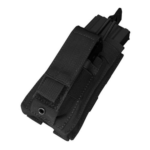 Kangaroo Magazine Pouch holds 1 M4/M16 Mag, Pistol Mag Color: Black