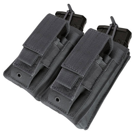 Double Kangaroo Magazine Pouch holds 2 M4/M16 Mag, Pistol Mag Color: Black